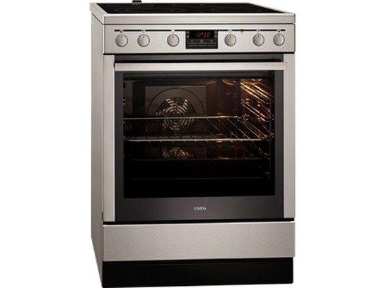 Fornuis Energieklasse A : Aeg 47056vs mn fornuis met vitrokeramische kookplaat art & craft