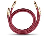 Oehlbach 2044, NF214 audiokabel 2xrca/rca m/m, 0,70m, rood