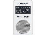 Sangean DPR-34, draagbare radio, oplaadbaar, DAB+, wit