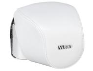 Nikon CB-N4000 Wit lederen etui - Nikon 1 V2