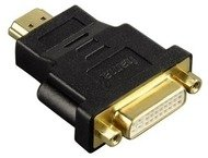 Hama Compact Adapter Hdmi Plug - Dvi-D Socket, Black