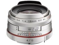 Pentax Objectif K 15mm f/4 ED AL Limited Silver pour HD DA
