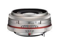 Pentax Objectif K 21mm f/3.2 AL Limited Silver pour HD DA