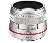 Pentax K-objectief 35mm Macro f/2.8 Limited Silver voor HD D