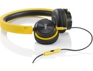AKG Y40, on-ear HPH, mic/rm, geel