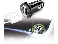 Cellular Line Usb dual micro autolader, 2A, zwart