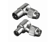 Hama coax set metaal plug/jack