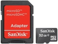 SanDisk 32GB Micro SDHC - photo + Adapter