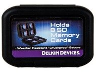 Delkin Weather resistant SD memory card tote - holds 8