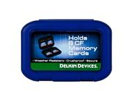 Delkin Weather resistant CF memory card tote - holds 8