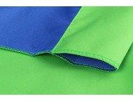 StudioKing Achtergronddoek 2,9x5 m Blauw/Groen