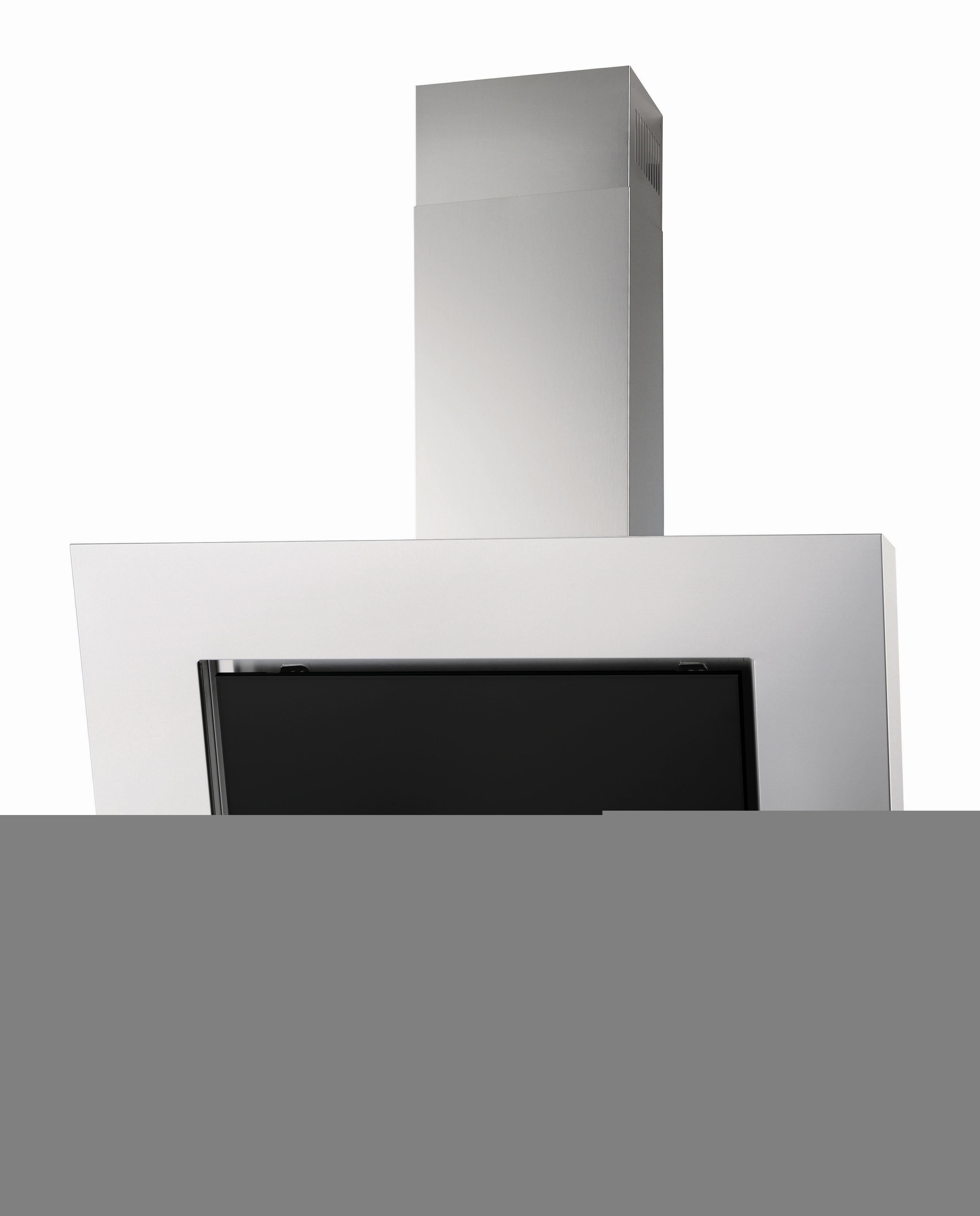 Zanussi zhc86540xa hotte cheminée 80 cm éclairage halogène