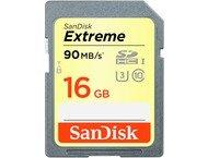 Sandisk Carte mémoire SDHC Extreme, 16GB, Cl.10 U3, 90/40MB/