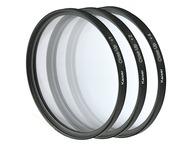 Kaiser Close-Up Lens Set w/ Close-Up Lens Each +1, +2, 40489