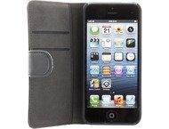 Holdit iPhone 5/5S/SE, case, wallet magnetic, leather, black