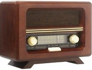 Ricatech PR190  Wooden Nostalgic Analog AM/FM radio