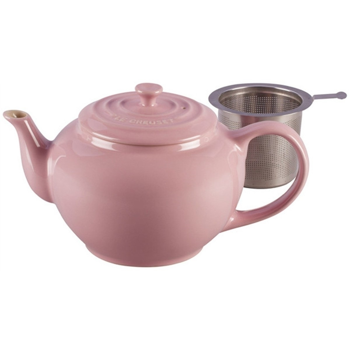 Le Creuset Theepot 1l Met Rvs Theezeef Chiffon Pink