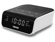 Nikkei NR160U Klokradio - USB - Zwart/Wit