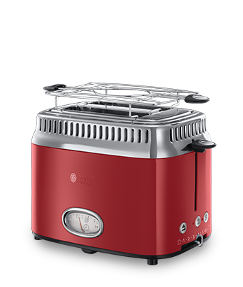 Russell hobbs toaster retro retro ribbon red21680 56 art for Tostapane russell hobbs