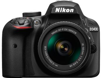 Nikon D3400 Body + 18-55mm VR - Zwart