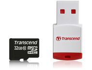 Transcend 32 GB micro SDHC card class 10 met card reader