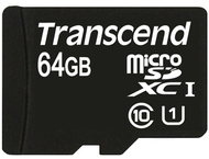 Transcend 64 GB micro SDHC UHS-I card - Read up to 90MB/s