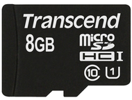 Transcend 8 GB micro SDHC UHS-I card - Read up to 90MB/s  W