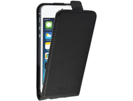 Azuri flip tasje - leder - zwart - voor Apple iPhone 5