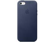 Apple iPhone SE Leather Case - Midnight Blue
