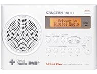 Sangean DPR-69, draagbare radio, incl. adapter, DAB+, wit