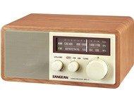 Sangean WR-11, houten cabinet radio, walnoot