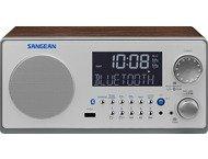 Sangean WR-22, houten cabinet radio, USB, BT, walnoot