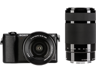 Sony A5100 Body + 16-50mm + 55-210mm - Zwart