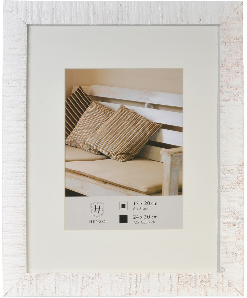Henzo Driftwood White 24x30 Wooden Frame 8073502 Art Craft