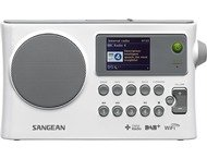 Sangean WFR-28C, WIFI (internet) draagbare radio, DAB+, wit