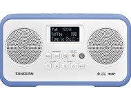 Sangean DPR-77, digitale radio, stereo, DAB+, wit/blauw