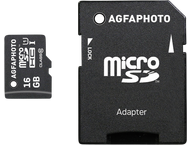 AgfaPhoto Mobile High Speed 16GB MicroSDHC Class 10 + Adapte