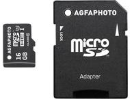 AgfaPhoto Mobile High Speed 16GB MicroSDHC Class 10 + Adapte