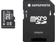 AgfaPhoto Mobile High Speed 32GB MicroSDHC Class 10 + Adapte