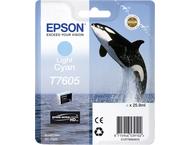 Epson  T7605 inktcartridge Cyaan high capacity clair 25,9ml