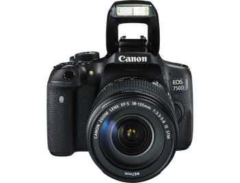 Canon EOS 750D Body + 18-135mm - Zwart