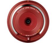 Olympus BCL-1580 Bouchon boîtier objectif rouge