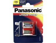 1x2 Panasonic Photo CR-2 Lithium