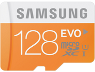 Samsung microSDXC Class 10 128GB Evo met Adapter