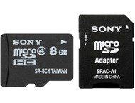 Sony microSD Kaart 8GB incl. SD Standaard Adapter