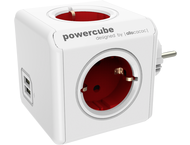 allocacoc PowerCube Original USB rood Type F voor Extended C