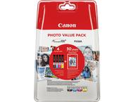Canon CLI-551 Photo Value Pack C/M/Y/BK PP-201 10x15 cm 50 b