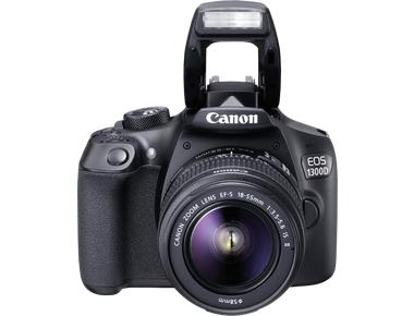 Canon EOS 1300D Body + 18-55mm IS - Zwart
