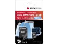 AgfaPhoto 64 GB microSDXC-card Class10 UHS-1 U3