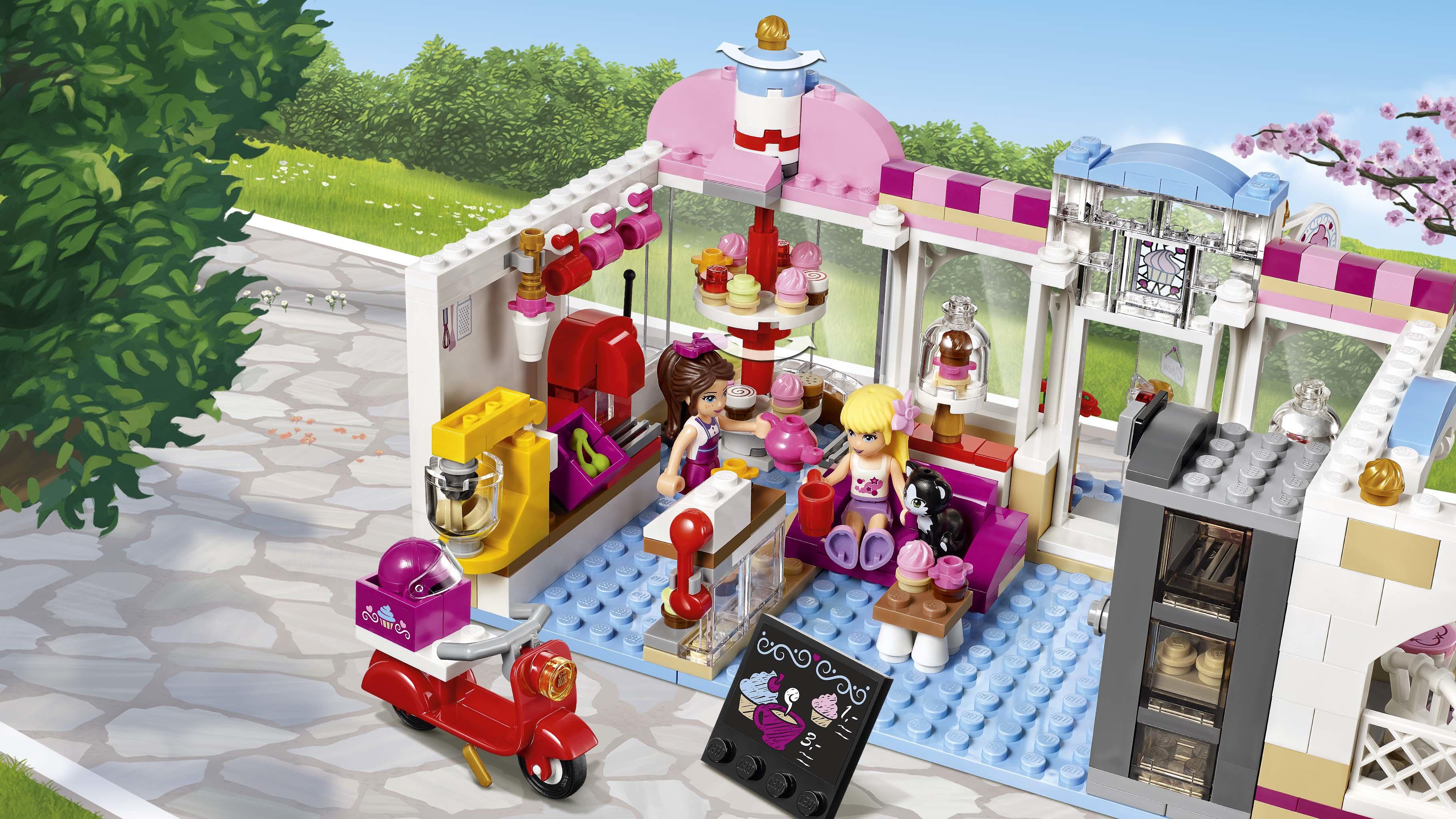 Lego friends heartlake cupcake cafe art craft